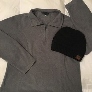 Lands' End Quarter Zip Fleece Pullover
